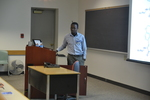 "Solomon Gisemba presents on ""Minimizing Side Reactions in Novel Peptide Ring Closing Metathesis Reactions"""