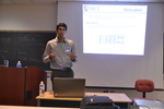"Matias Soto presents on the ""Effect of doping and defects on the electronic structure of DWCNTs"" by Sarah Burton"