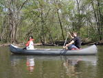 Simone Walcott and Anthony Bosman enjoy canoeing on Sabbath afternoon by Sarah Burton