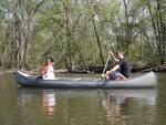 Simone Walcott and Anthony Bosman enjoy canoeing on Sabbath afternoon