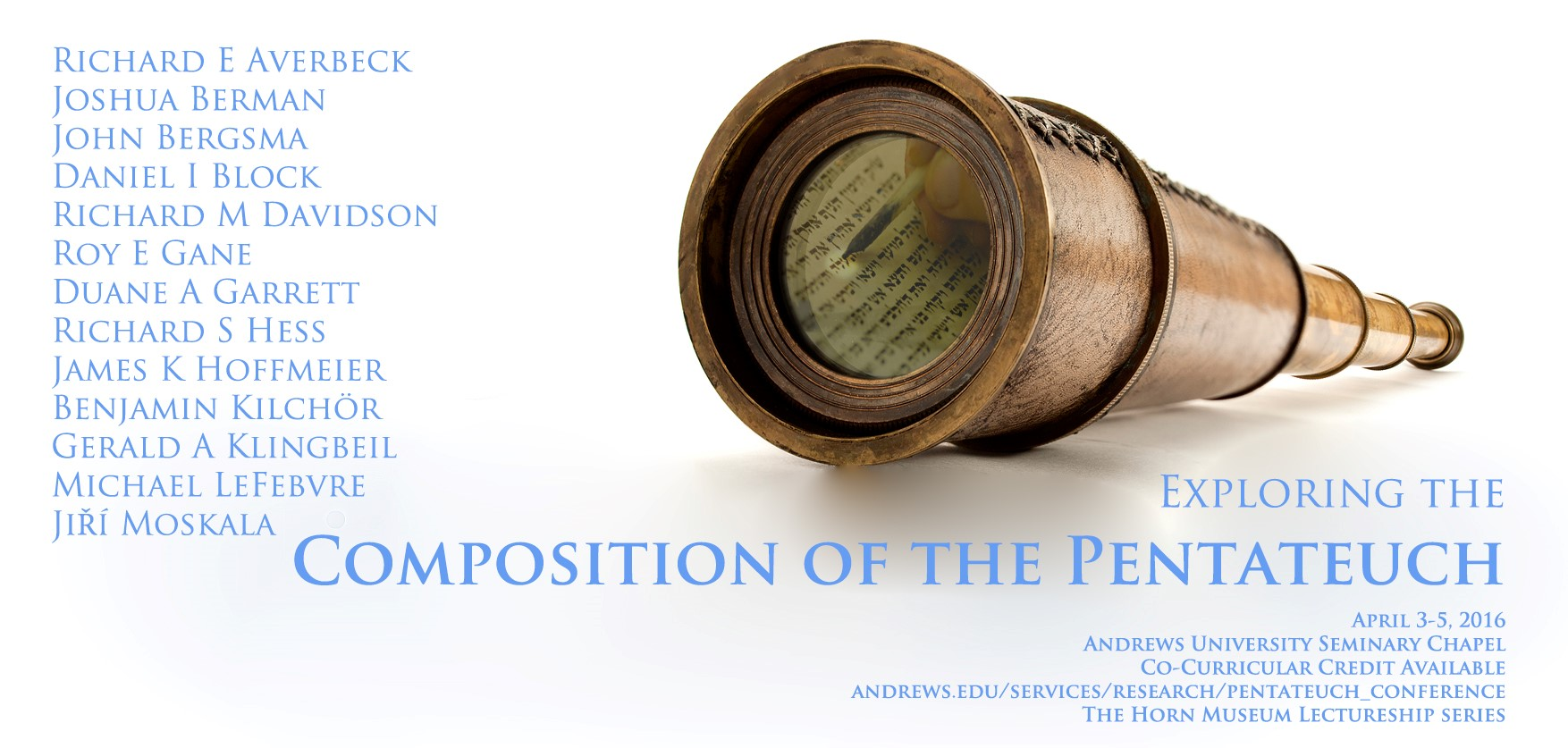 Exploring the Composition of the Pentateuch Conference