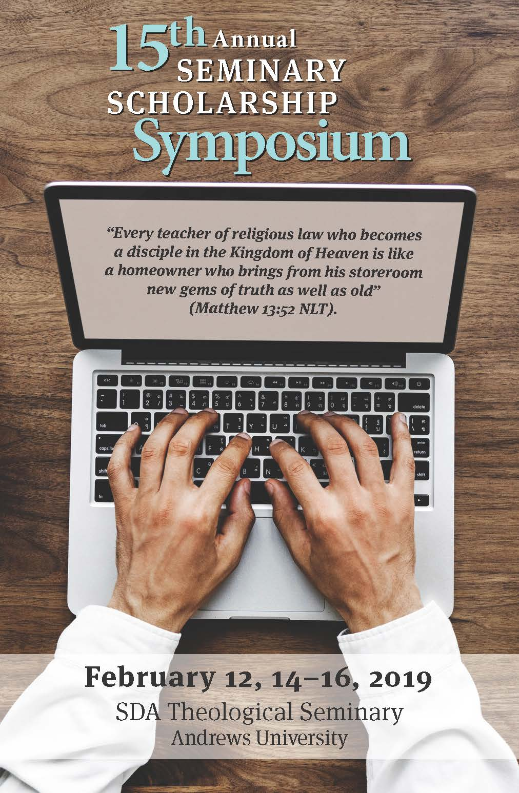15th Annual Seminary Scholarship Symposium | Seminary