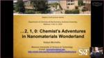 ...2, 1, 0: Chemist's Adventures in Nanomaterials Wonderland