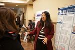 "Nursing professor Grace Chi explains her poster on ""The impact of servant leadership on job burnout among Adventist healthcare nurses"""