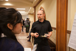 "Engineering and Computer Science professor Rodney Summerscales explains his poster ""Using Evidence-based medicine summaries to help answer health economic questions"""