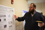 "Biology graduate student Matthew Schott explains his research ""Expression and characterization of Ecm14, a putative metallocarboxypeptidase from Saccharomyces cerevisiae"""