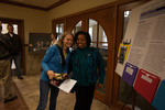Communication professor Rachel Williams-Smith (right) and undergraduate student Erika Mikkelson (left) pose for a photo