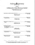 Collaborative Piano Showcase Recital by Department of Music