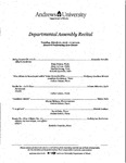 Departmental Assembly Recital