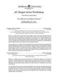 AU Singer Actor Studio