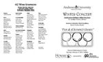 AU Wind Symphony Winter Concert by Department of Music