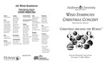 AU Wind Symphony Christmas Concert by Department of Music