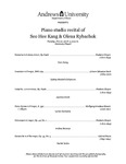 Piano Studio Recital of Seo Hee Kang & Olena Rybachok by Department of Music