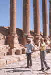 Jerash-Main St-Bjornar & Doug Clark by Larry Mitchel