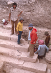 Tell Hesban-Roman Monumental Stairs-Larry Herr Center-Ron Geraty Upper Left by Larry Mitchel