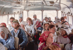 Tell Hesban-Bus Back To Camp by Larry Mitchel