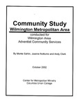 Community Study, Wilmington Metropolitan Area