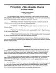 Perceptions of the Adventist Church in North America