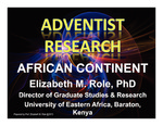 Adventist Research African Continent