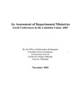 An Assessment of Departmental Ministries Local Congerences in the Columbia Union: 2003