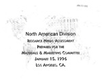 North American Division Resource Needs Assessment