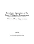 Constituent Expectations of the Youth Ministries Department