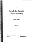 A Study of Seventh-Day Adventist Church Membership