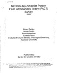 Seventh-day Adventist Portion: Faith Communitites Today (FACT) Survey, 2000