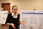 "Honors Scholar Cheryl Simpson presents her poster ""Sabbath-Keeping Experiences: The Relationships Between Religious Internalization, Well-Being, and Need Support"" by Andrews University"