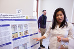 "Honors Scholar Jamie Kim explains her poster ""Investigation of spatial isotope ratios in soil and the effects of fertilizer on plant isotope ratios"""
