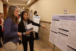 "Undergraduate Research Scholar Ye Lim Seo presents her poster ""A space curve satisfying t/k = t"""