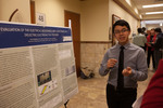 "Undergraduate Research Scholar James Magbanua presents his poster ""Evaluation of the Electrical Resistance and Capacitance of a Dielectric Electro-Active Polymer"""