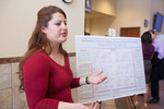 "Honors Scholar Erica Bradfield explains her poster ""The Diversity of Color: An Analysis of Cross-Cultural Color Symbolism"""