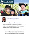 Leadership Department Newsletter - November 2013