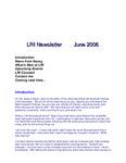2006 June-Newsletter