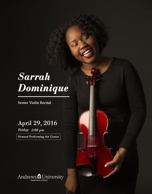 Senior Recital Sarrah Dominique 2016