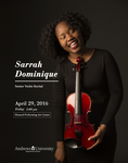 Senior Recital Sarrah Dominique 2016 by Sarrah Dominique