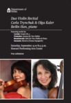 Duo Violin Recital by Carla Trynchuk