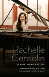 Junior Piano Recital - Rachelle Gensolin by Department of Music