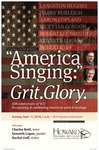 """""""America Singing:"""" Grit.Glory. by Department of Music"""
