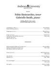 Graduate Recital: Fabio Siniscarchio