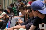 Students Sketching on the steps of the Waldensian Church in Torre Pellice