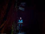 Professor Carscallen Presenting Communion Service in the Cave Church