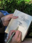 Student Sketching in Clot de Main 3
